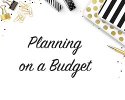 Save $ Planning on Budget