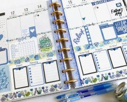 Happy Planner Blue Spread