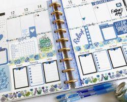 Happy Planner Blue Spread