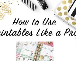 How to USe Printable Stickers Happy Planner